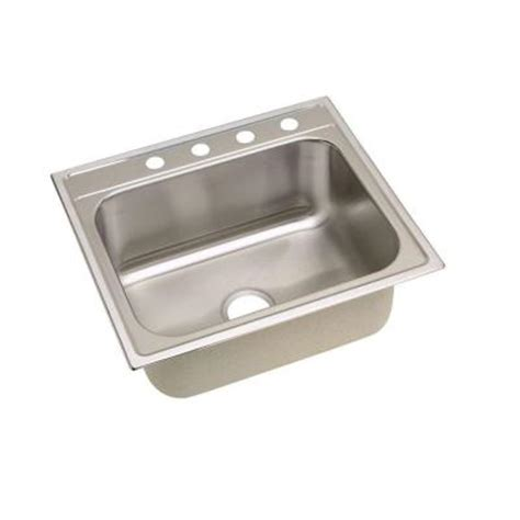 home depot kitchen sinks elkay signature top mount stainless steel 25 in 4