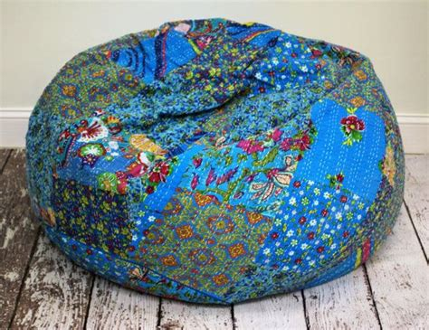 blue boho bean bag chair boho home accessories