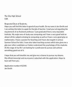 12 job application letter for teacher templates pdf With application letter for montessori teacher
