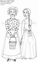 Coloring Pages Pioneers History Dressing Pioneer Colouring Through Adult Dress Etsy Books Children Printable Outline Printables Sketch Drawings Template Lds sketch template