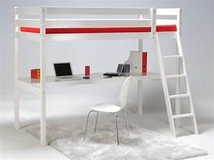 Hochbett Mit Schreibtisch Günstig : hochbett mit schreibtisch prado 90x190cm wei g nstig ~ Indierocktalk.com Haus und Dekorationen