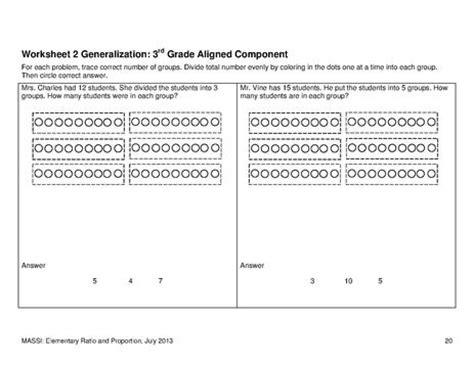 Fileworksheet 2 Generalization3rd Grade Aligned Componentpdf  Ncsc Wiki