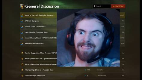 Asmongold Reacts To His Old Wow General Forums Posts (w