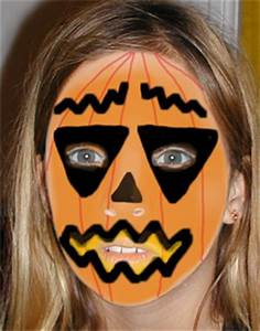 Tete De Citrouille Pour Halloween : maquillage de citrouille d 39 halloween maquillage sur t te modeler ~ Melissatoandfro.com Idées de Décoration