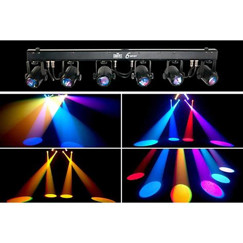 guitar center dj lights chauvet dj 6spot led spot lighting system guitar center