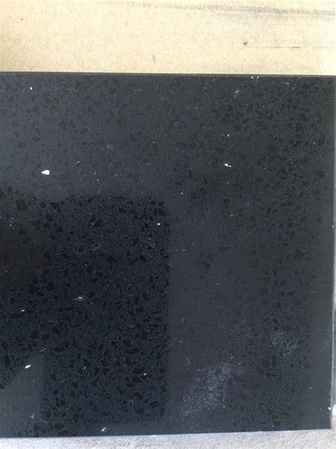 hanstone obsidian black quartz kitchen countertops