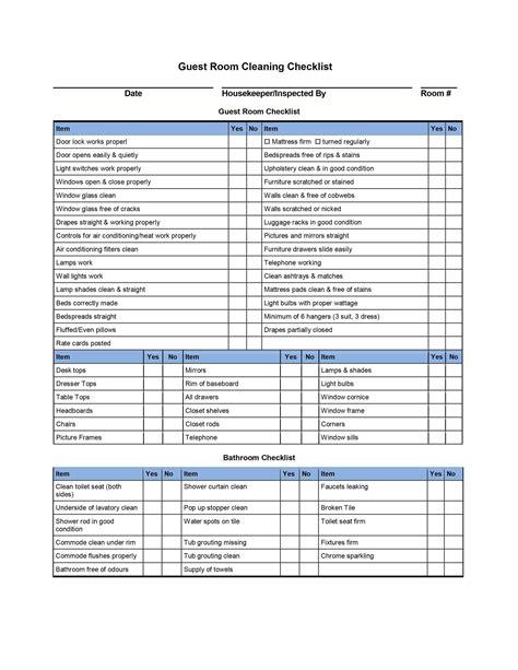 9 Best Images Of Hotel Housekeeping Checklist Printable