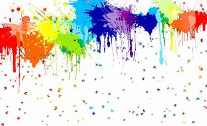 Glow Splash Clipart Neon Transparent Rainbow Paint