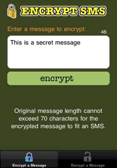 secret text app iphone encrypt sms send secret text messages 1 0 app for