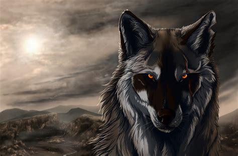Wallpaper Wolf, Art, Graphics, Paint Desktop Wallpaper
