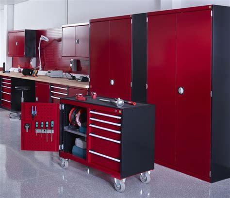 red and black garage cabinets bott workshop and garage cabinets garagepride