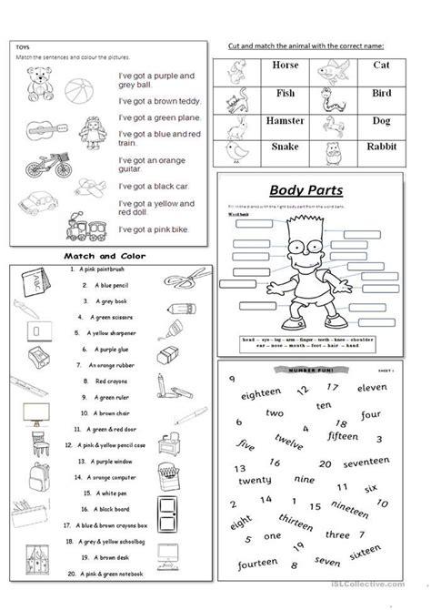 mix activities beginners elementary fichas ingles