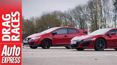 Honda Nsx Vs Civic Type R Drag Race