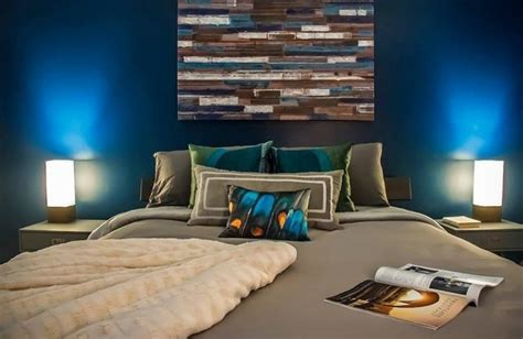 decoration chambre bleue tableau deco pour chambre adulte visuel 7