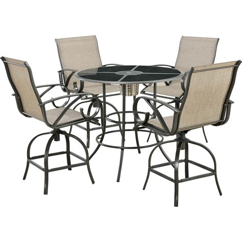 Courtyard Creations Patio Table Courtyard Creations 5 Pc High Dining Set