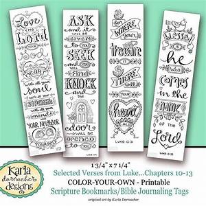 luke 10 13 color your own bookmarks bible journaling With religious bookmark templates
