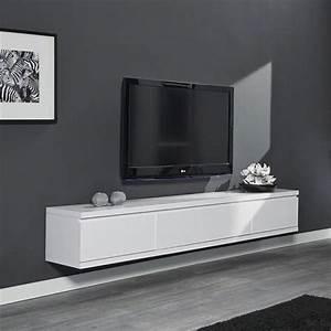Meuble Sous Tv Suspendu : meuble de tele suspendu meuble bar tv maisonjoffrois ~ Teatrodelosmanantiales.com Idées de Décoration