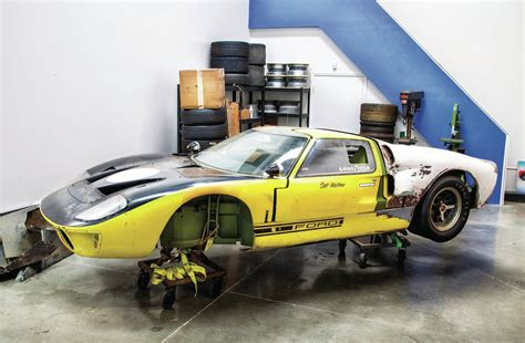 1966 Ford Gt40 Three Quarter In Shop Photo 6