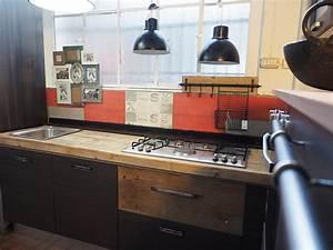 Cucina industrial chic moderna con colonna angolo top for Cucine industrial legno