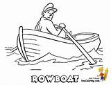 Coloring Boat Pages Rowboat Fishing Fisherman Easy Drawing Boats Printables Row Ship Template Fishermen Yescoloring Water Craft Coolest Books Getdrawings sketch template