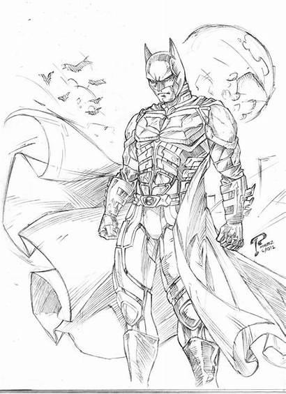 Knight Coloring Dark Batman Rises Drawing Arkham