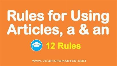 Grammar Articles Rules English Using Tweet Indefinite