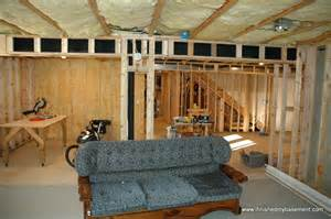 Unfinished Basement Ideas Low Ceiling by Framing Basement Walls Design Preperation And Execution