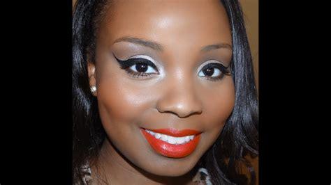 simple glam makeup  dark brown skin youtube