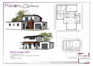maisons contemporaines a etage 120m 09 09 2014 154315jpg With plan de maison a etage