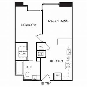 One bedroom apartment floor plans photos and video for One bedroom apartments floor plans