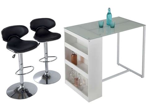 table de bar lot de 2 tabourets tekila conforama pickture