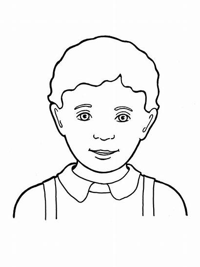 Boy Primary Drawing Hair Curly Library Coloring
