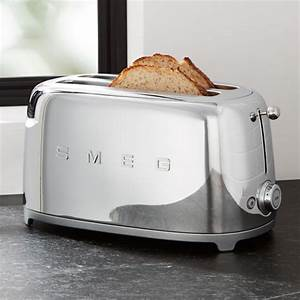 SMEG Silver 4 Slice Retro Toaster Reviews Crate And Barrel