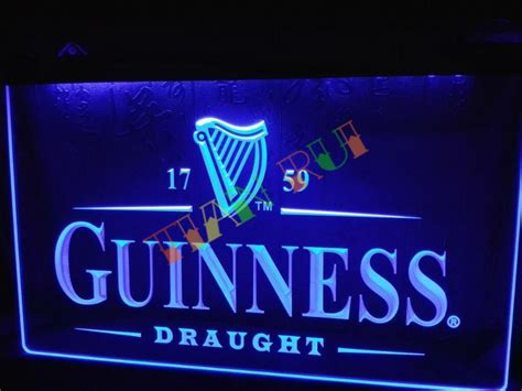 neon signs for home decor aliexpress com buy le002 guinness vintage logos bar