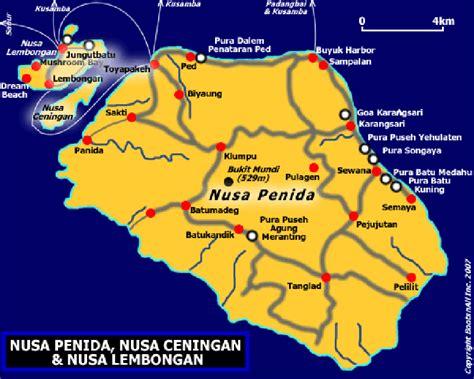map  nusa penida nusa ceningan nusa lembongan bali blog