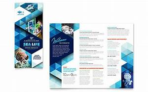 ocean aquarium adobe illustrator brochure template With pamphlet template illustrator