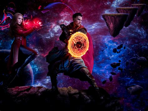 1400x1050 Doctor Strange and Scarlet Witch Madness of ...