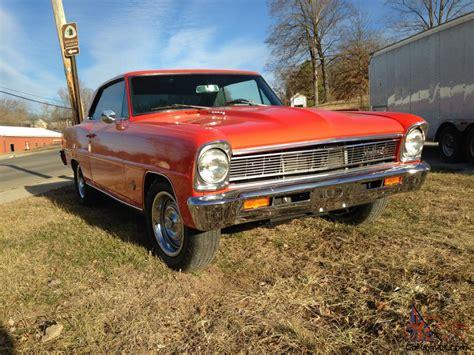 1966 66 Chevy Ii Nova 2 Dr Hardtop In Hugger Orange 327
