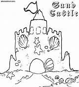 Sandcastle Coloring Sand Castle Drawing Building Colorings Getdrawings sketch template