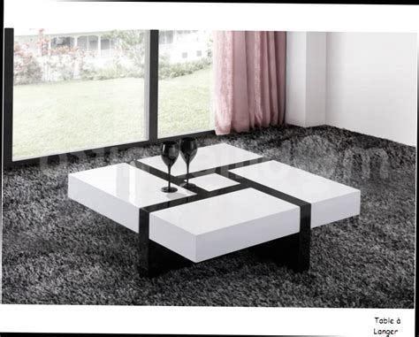 Table De Salon Design Blanc Table Basse Design Quatre