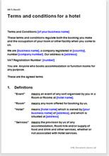 Booking Terms And Conditions Template Hotel Booking Terms And Conditions Template Net Lawman