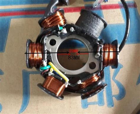 New Dc Magneto Stator 6-coil 6 Pole 5-wire Gy6 125cc 150cc