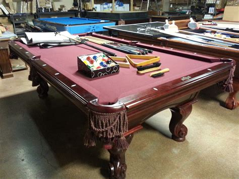 8 used american heritage pool table
