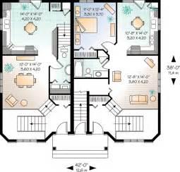 multi level house floor plans plan w21428dr three unit apartment house plan e architectural design
