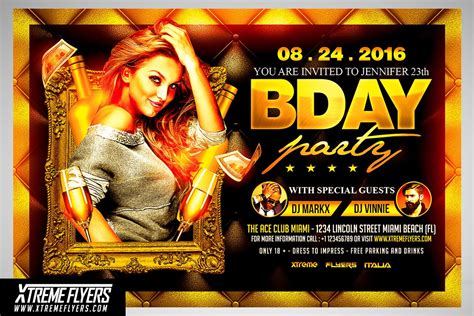 birthday party flyer template flyer templates creative