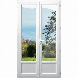 porte fenetre pvc 2 vantaux dormant de 118 mm avec With degonder porte fenetre pvc