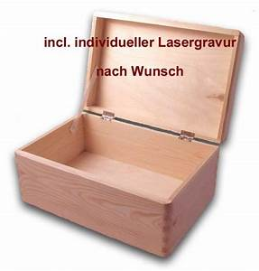 Aufbewahrungsbox Mit Deckel Holz : aufbewahrungsbox holzkiste m deckel gr 1 kiefer incl lasergravur nach wunsch holzartikel ~ Bigdaddyawards.com Haus und Dekorationen