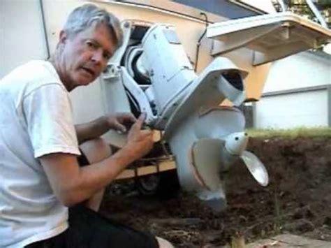 volvo penta outdrive   exhaust bellows installation