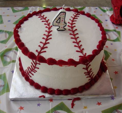 Double Layer Baseball Cake  Cakes & Crumbles