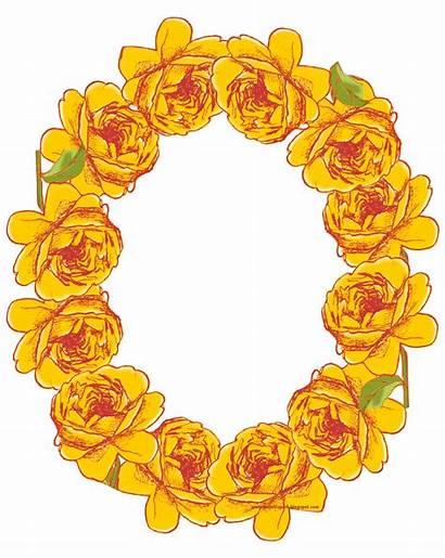 Frame Oval Yellow Flower Rose Digital Frames